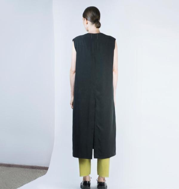 Ade Velkon Long Vest faded black