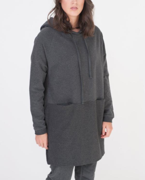 beaumont organic Noah Hooded dress black