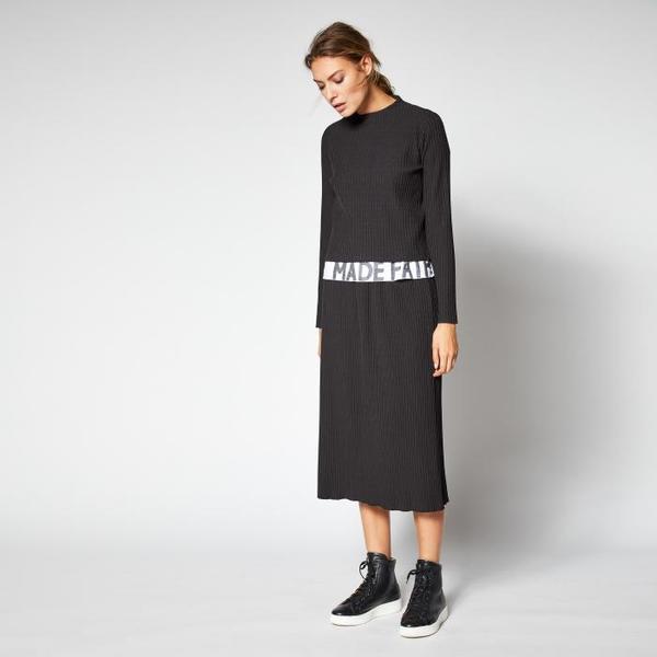 Lanius Pleated Skirt black