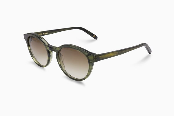 Unisex Dick Moby YVR Sunglasses - green leaves