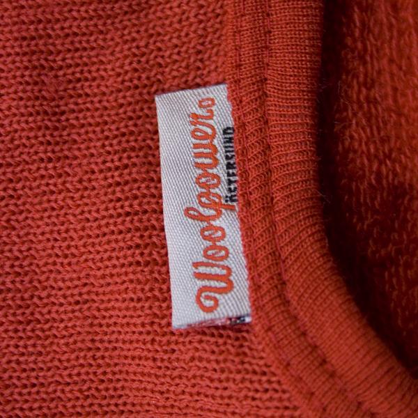 Woolpower 200g Half Zip- Red, Red