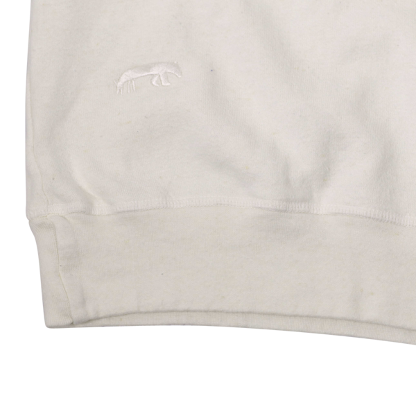 Westerlind Boyfriend 3/4 Sleeve Sweatshirt, Egg Shell