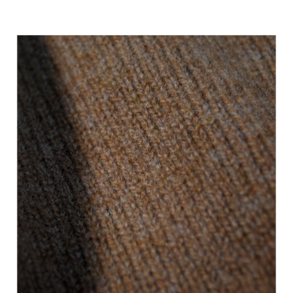 Cashmere/Merino Turtleneck Sweater, Corteccia