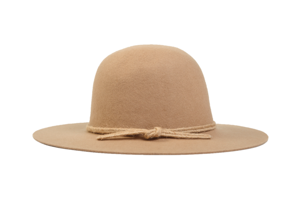 Westerlind Felt Hat with Band, Camel w/ tan rope