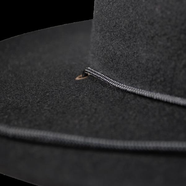 Felt Hat with Cord, Black