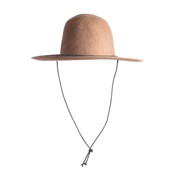 Westerlind Felt Hat with Cord, Camel