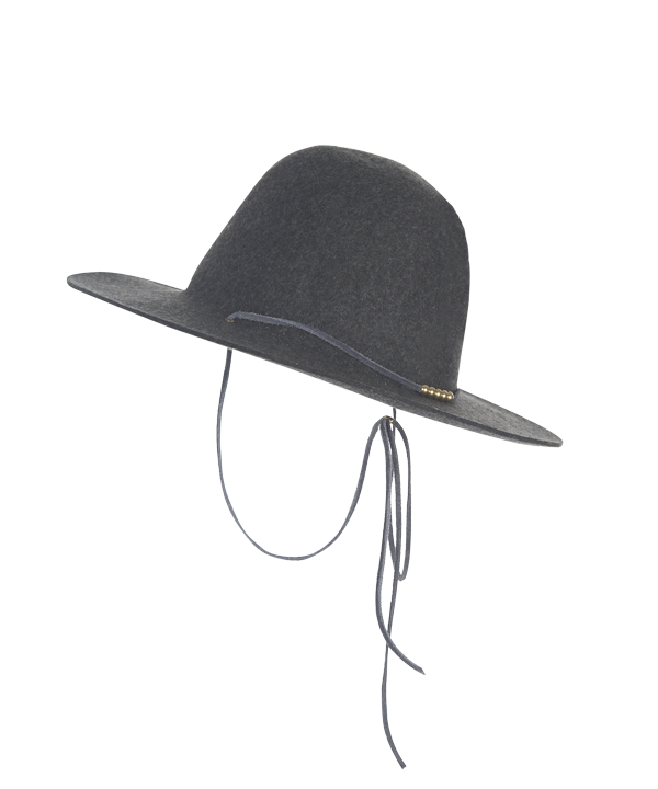 Woolrich x Westerlind Felt Hat with Leather Cord, Grey