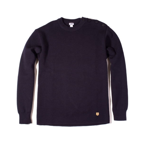 Armor Lux Fouesnant Wool Sweater, Navy