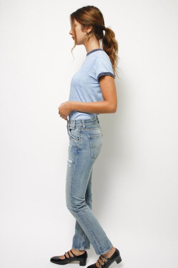 Levi's 505 C Cropped - BLUE ON BLUE