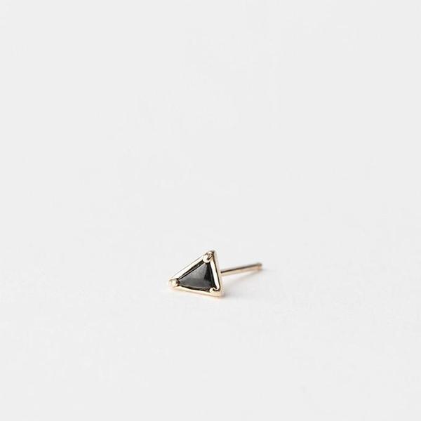 Mociun Triangle Single Stud - Black Spinel