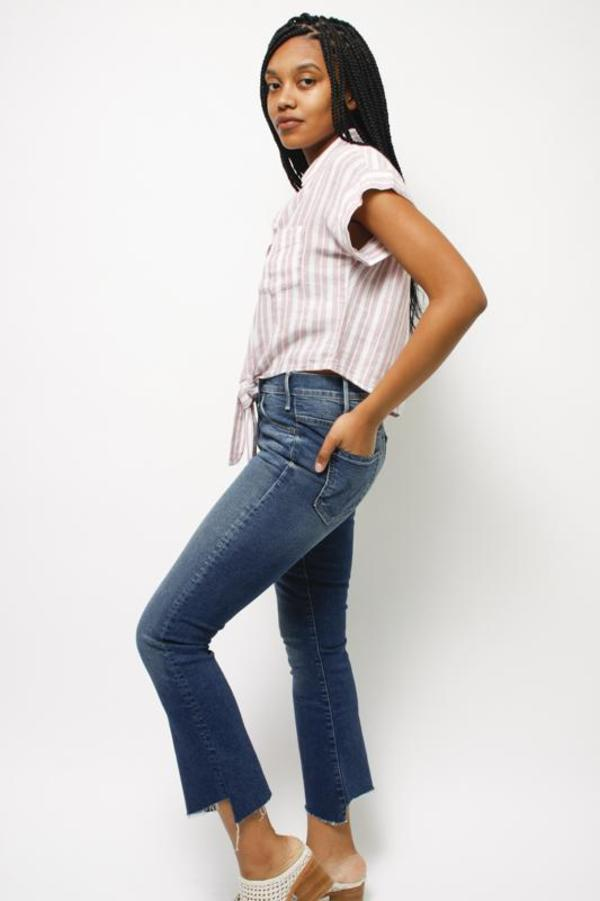 Mother Denim Mother Hustler Two Step Ankle Fray - THE BUCK STOPS HERE
