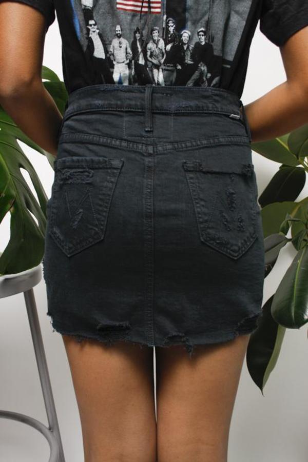 Mother Denim Mother Vagabond Fray Mini Skirt