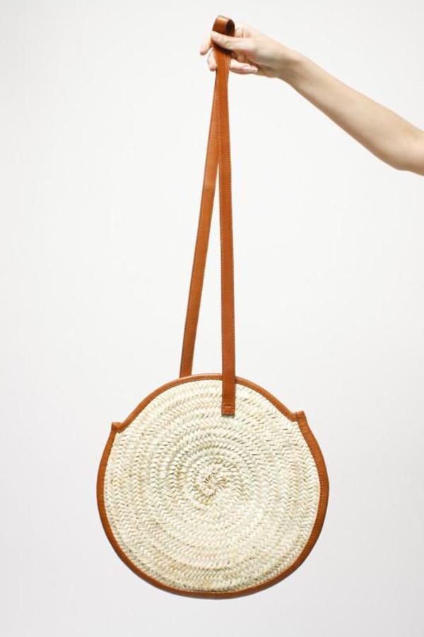 Parme Marin Large Circle Bag