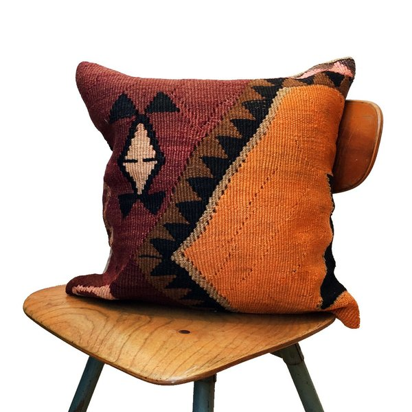 Amber Vintage Kilim Pillow Cover