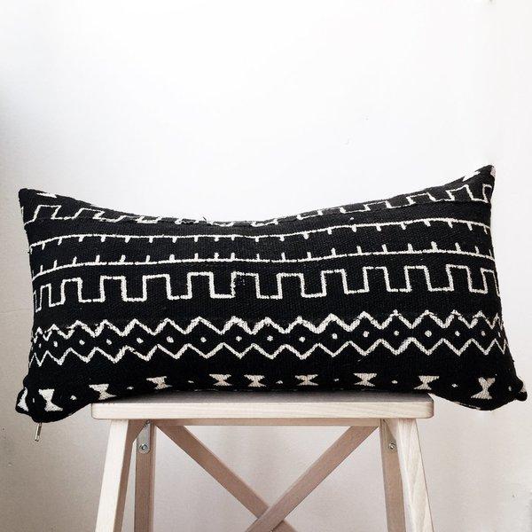 Valiente Goods Lumbar Mud Cloth Pillow No.04