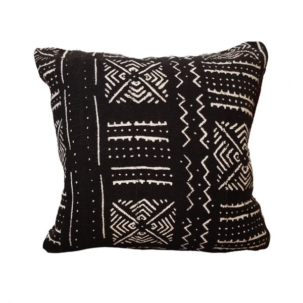Small Mud Cloth Pillow No.07
