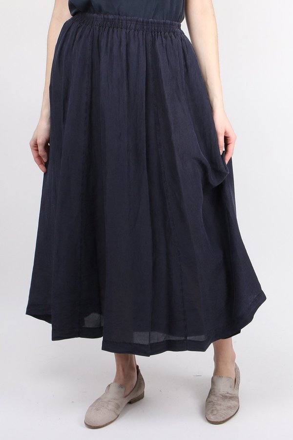 Forte Forte Habotai Silk Long Skirt - Blue