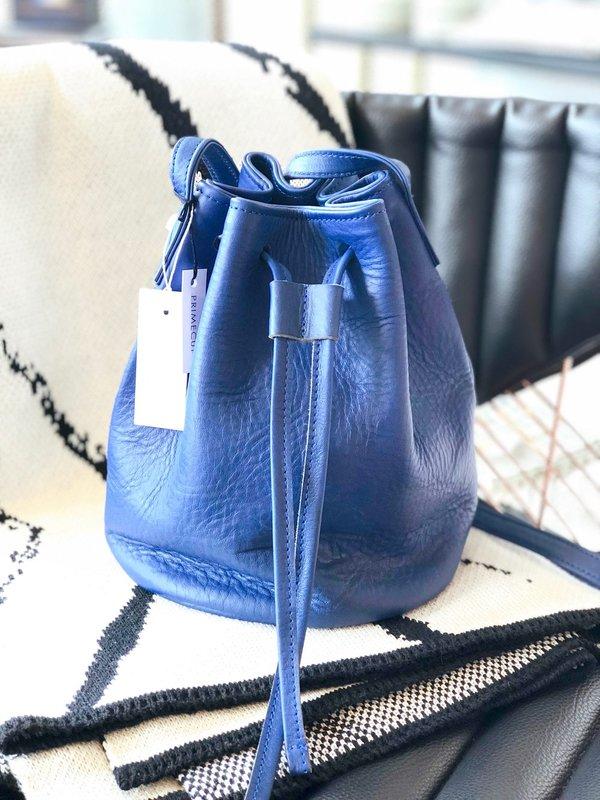 Primecut: Blue Leather Bucket Bag