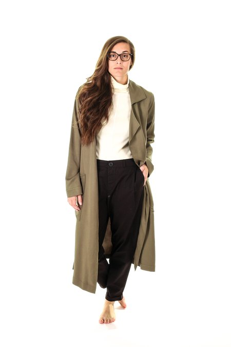 Hackwith Design House Tencel Trench Coat - gray
