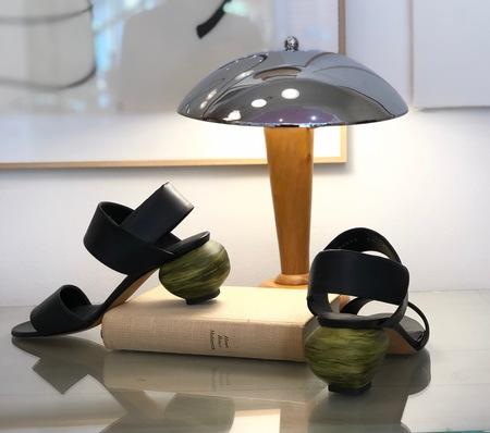 Gray Matters Marmo Black Slingback Sandals