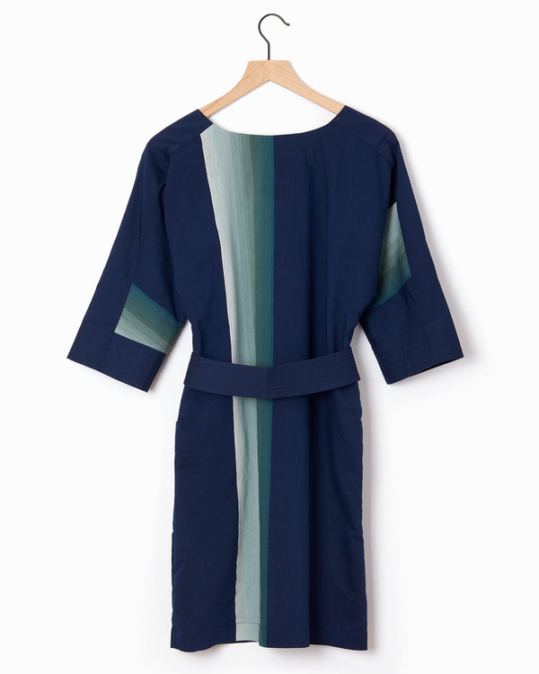 Anne Willi Charar Dress - Navy/Green/Grey