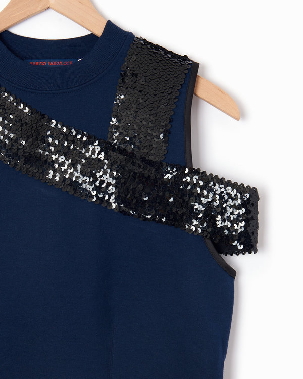 Harvey Faircloth Sweatshirt Top - Navy/Black
