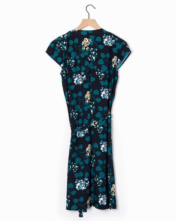 Anne Willi Aiko Dress - Black/Green
