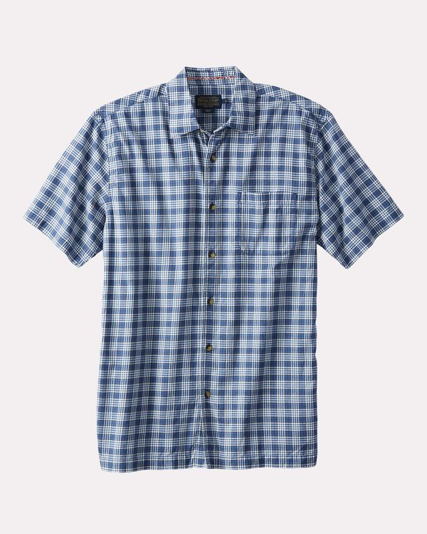 Pendleton Short Sleeve Bonneville Shirt Columbia Blue Plaid