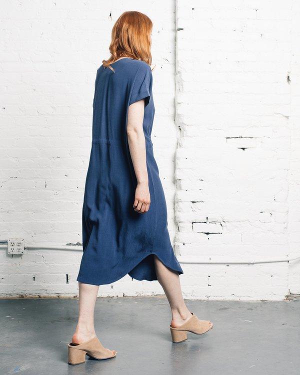 7115 by Szeki Reversible Drawstring Dress - Blue