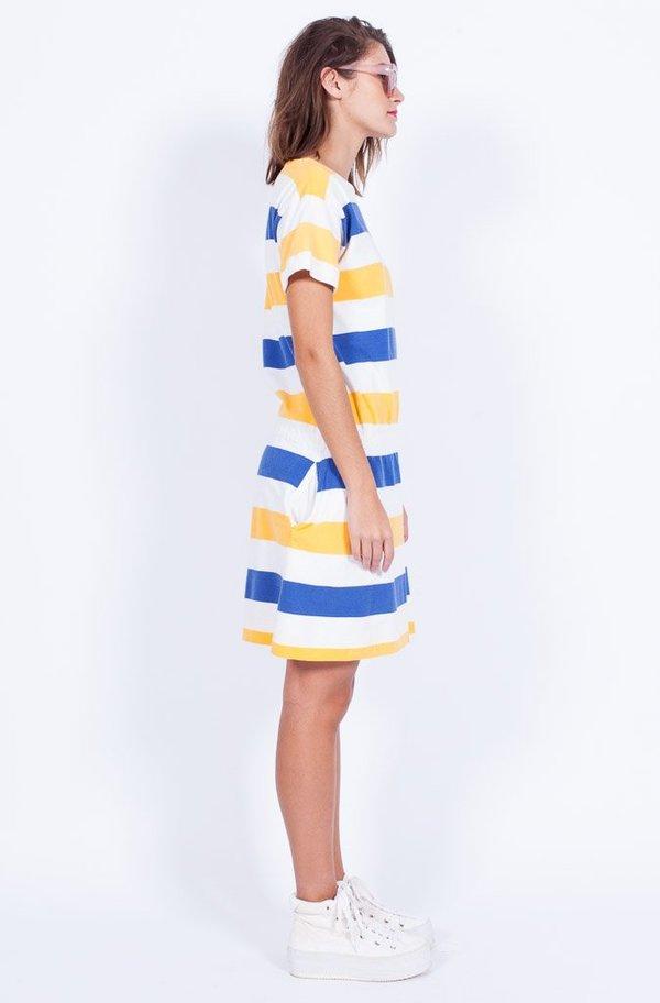 Yo Vintage! Stripe Cotton Dress - Small/Med
