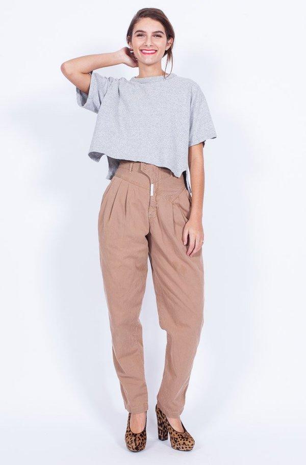 Yo Vintage! Tan High Waisted Pants - Small