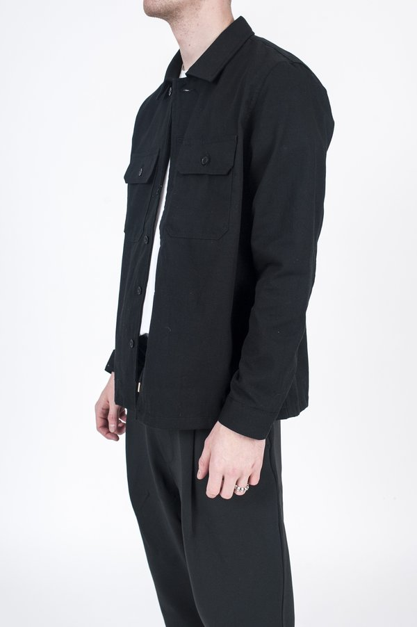 Naked & Famous Work Shirt  - Heavy Oxford Black