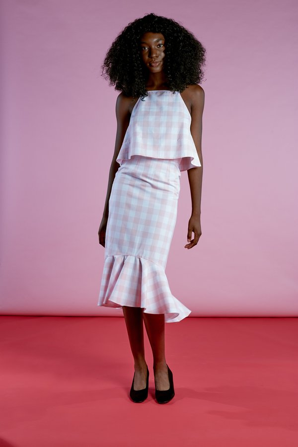 Wolcott : Takemoto Joan Skirt - Pink Gingham