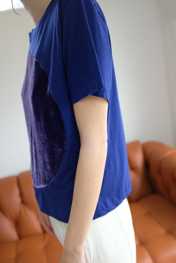 Correll Correll Velvet Circle T Shirt Purple