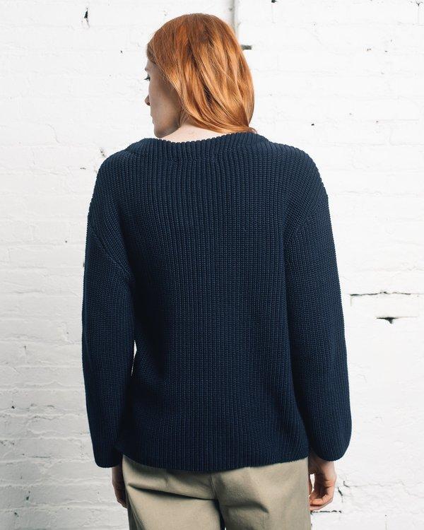 Norse Projects Hanne Heavy Sweater - Dark Navy
