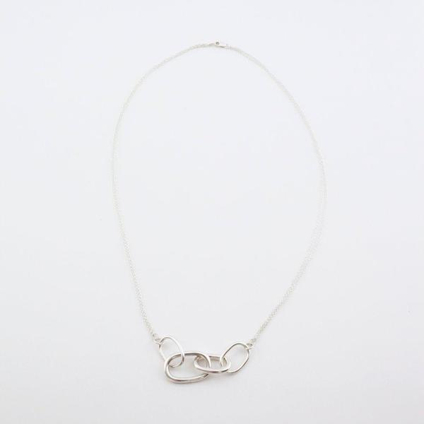 Another Feather Chain Link Necklace - Silver