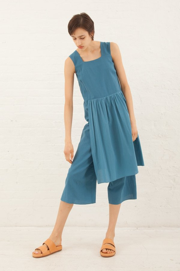 Correll Correll Apro Jumpsuit in Light Blue