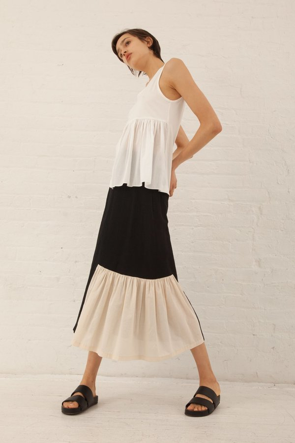 Correll Correll Flocco Skirt in Black/Ivory