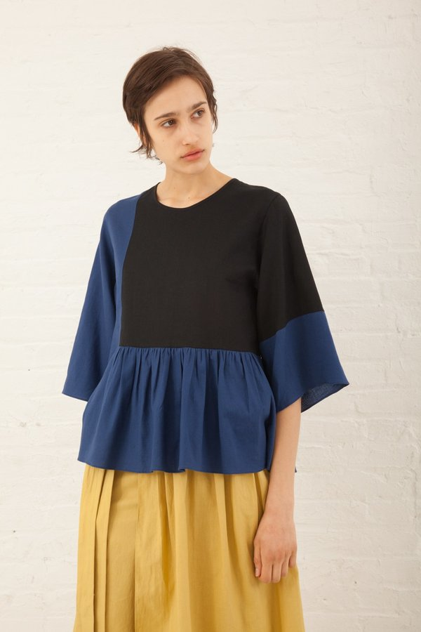 Correll Correll Flocco Top in Royal/Black
