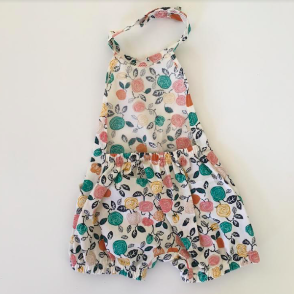 Kids Lucy & Leo Madison Square Romper - Flowers