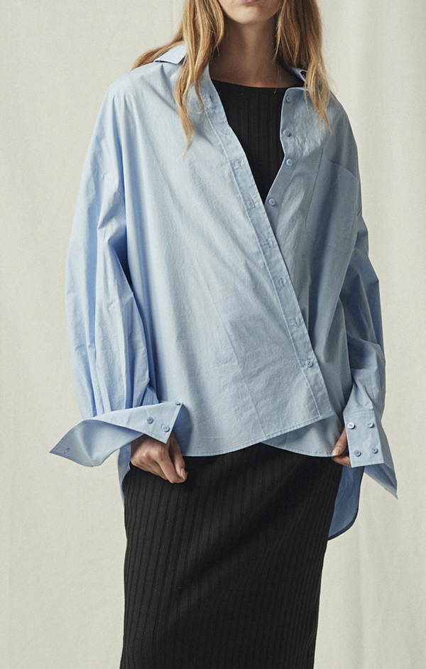 MIJEONG PARK OVERSIZED SHIRT - LIGHT BLUE
