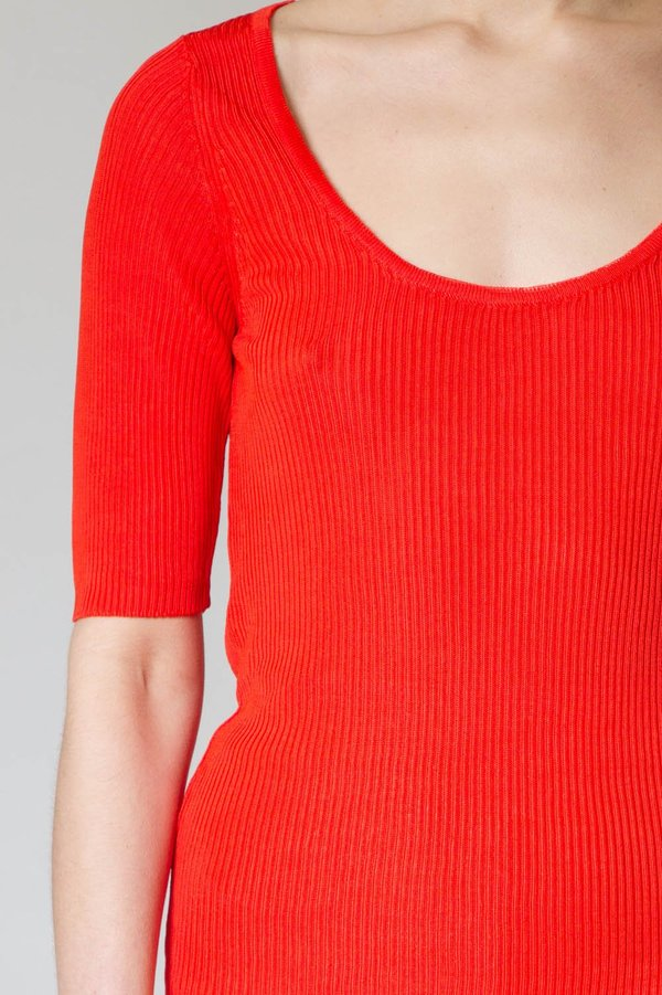 Suzanne Rae Short Sleeve Scoop Neck Knit