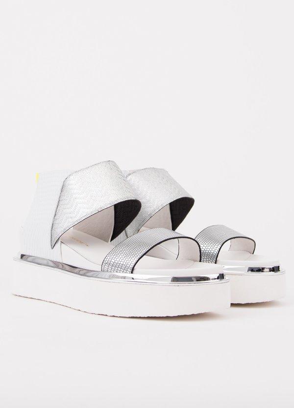 United Nude Rico Sandal - Silver/Lime