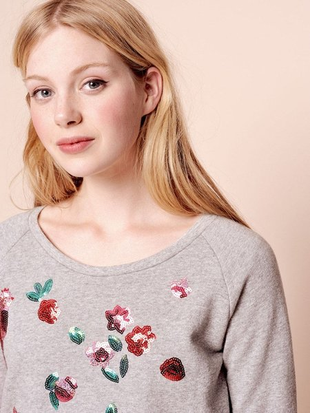 Des Petits Hauts Idana Sequin Sweatshirt