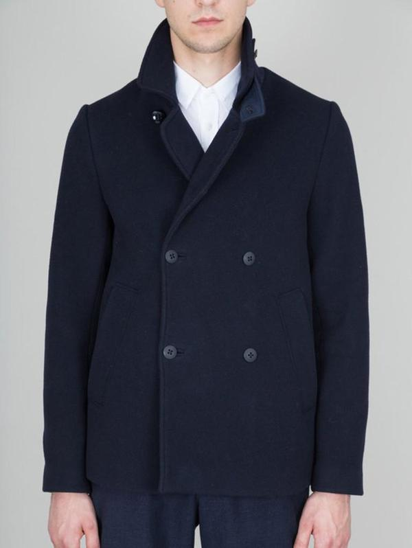 Folk Double Breasted Overcoat