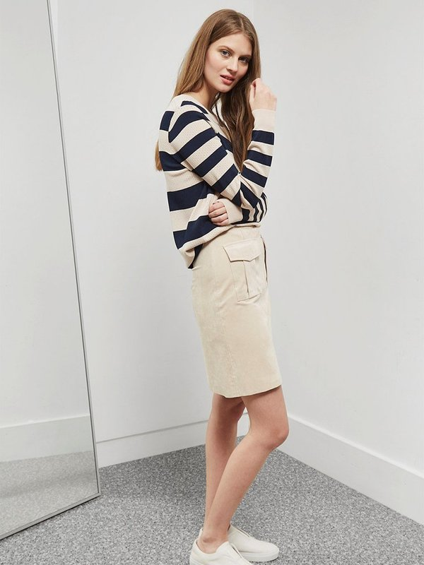 Great Plains Ronnie Stripe Knit in Navy & Cream