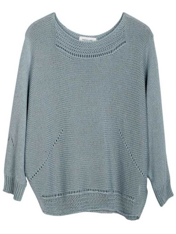 Indi & Cold Batwing Knit in Agua
