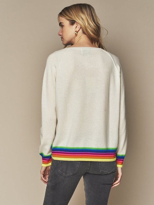 Jumper 1234 Mexican Wave Knit - WHITE