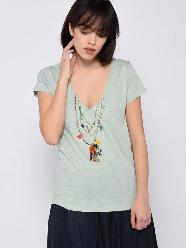Leon & Harper Tonton Mantra T-Shirt - Aqua