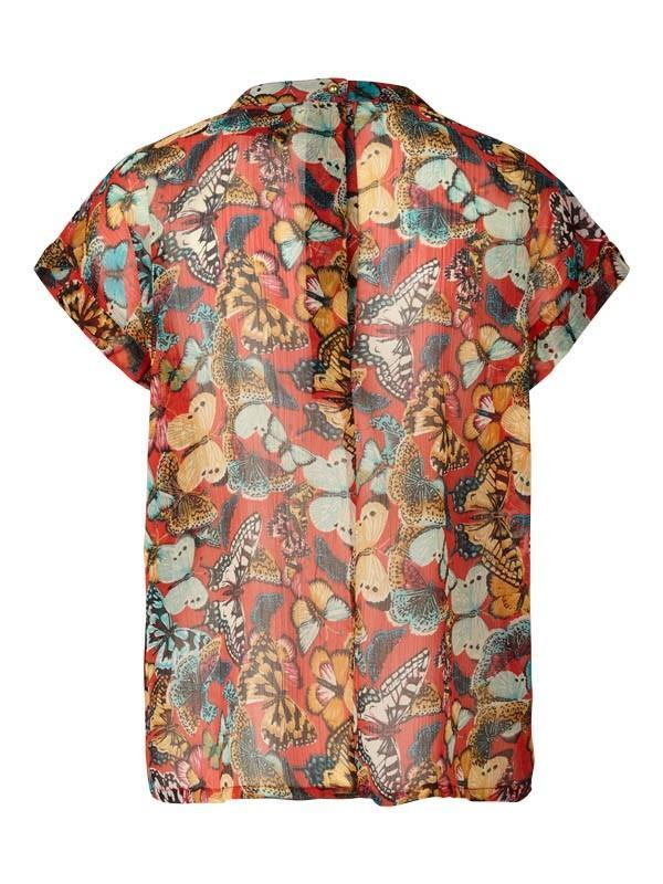 Lolly's Laundry Deva Butterfly Top - Red